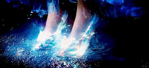 Scarpe di cristallo di Cenerentola