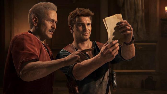 Due dei personaggi più importanti della serie Uncharted, Nathan e Sully