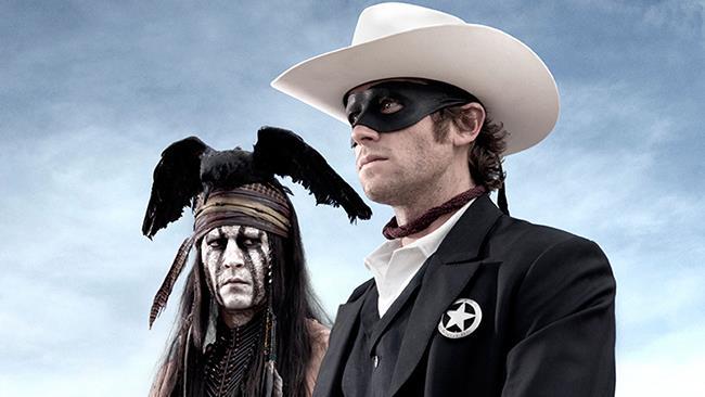 Johnny Depp e Armie Hammer in The Lone Ranger