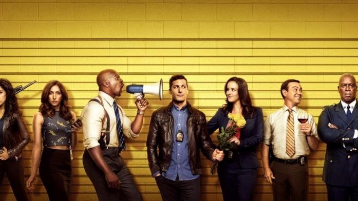 Un'immagine promozionale che mostra i protagonisti di Brooklyn Nine-Nine