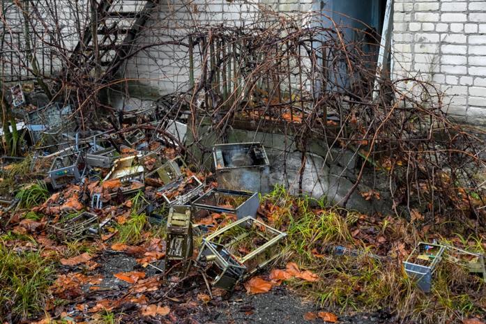 L'abbandono e la desolazione nella zona di esclusione di Chernobyl