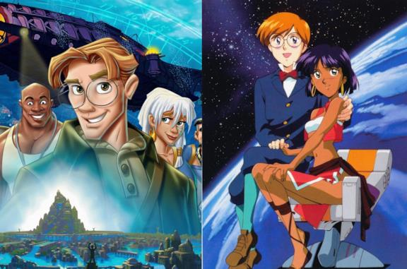 Atlantis  - L'impero perduto e Nadia - Il Mistero della Pietra Azzurra, a confronto