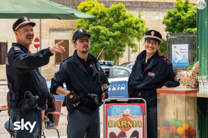 I poliziotti mentre sono in servizio