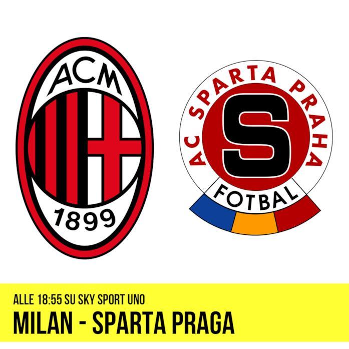 Milan - Sparta Praga alle 18:55 su Sky Sport Uno