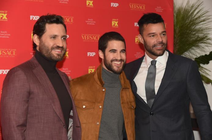 Edgar Ramirez, Darren Criss e Ricky Martin alla premiere di The Assassination of Gianni Versace