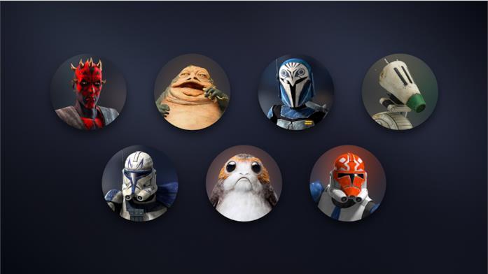 Un'immagine con i nuovi avatar di Star Wars resi disponibili da Disney+