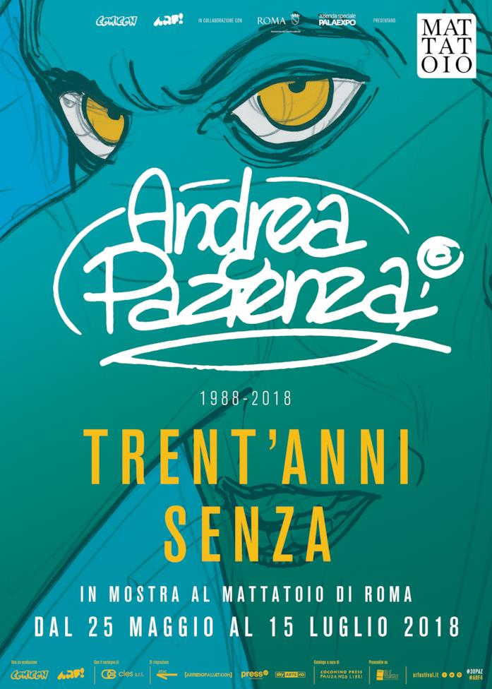 Il manifesto della mostra dedicata ad Andrea Pazienza