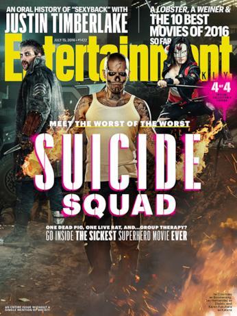 La cover 4/4 di Entertainment Weekly dedicata a Suicide Squad