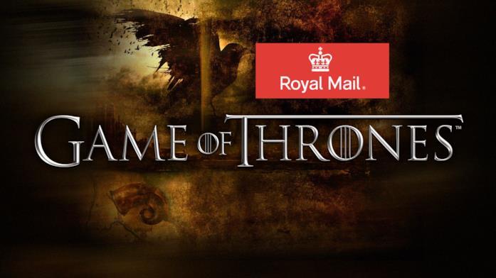 Il servizio postale britannico omaggia a Game of Thrones