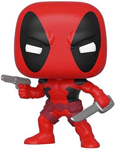 Funko- Pop Bobble Marvel: 80th-First Appearance: Deadpool Figura da Collezione, Multicolore, 44154