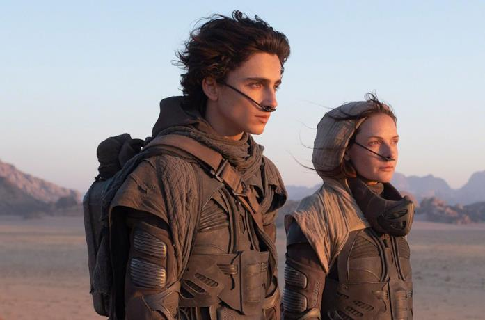 Timothée Chalamet e Rebecca Ferguson su Arrakis