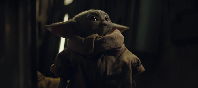 Il Bambino in una scena della prima stagione di The Mandalorian