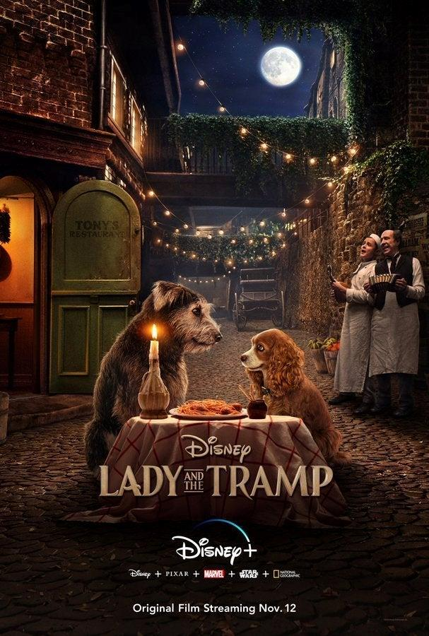 Il poster del live-action Lady and the Tramp