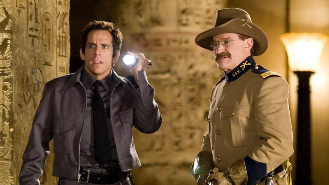 Una notte al museo: Ben Stiller in una scena con Robin Williams