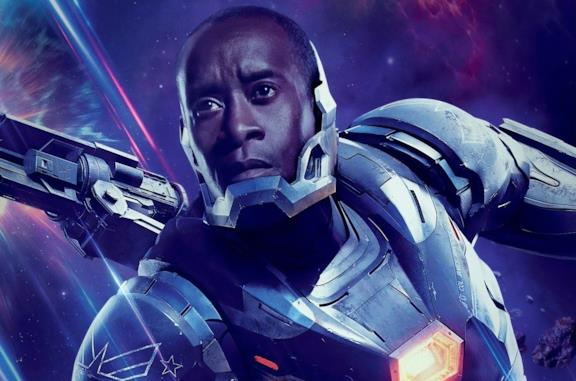 Don Cheadle è War Machine nel character poster di Avengers: Endgame