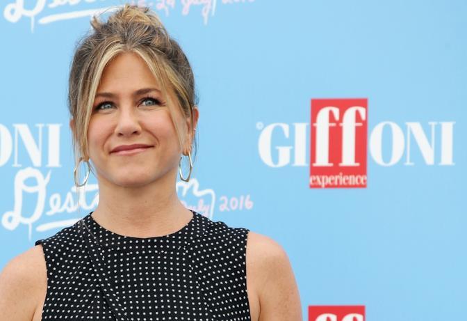 Jennifer Aniston, il photocall del Giffoni Film Fest