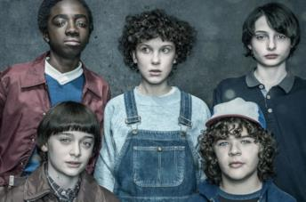 Il cast di Stranger Things in primo piano