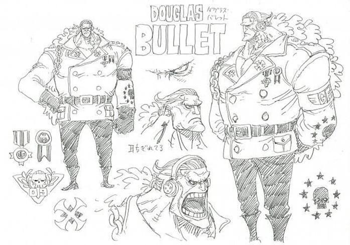 Character Design One Piece Douglas Bullet