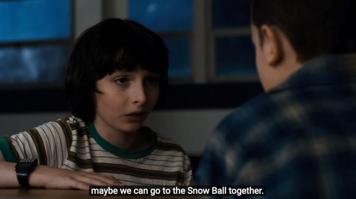 La scena in cui Mike invita Eleven al ballo