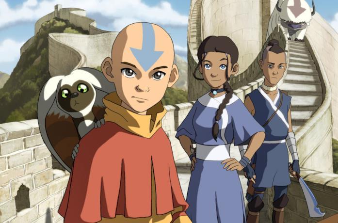 I protagonisti di Avatar - La leggenda di Aang