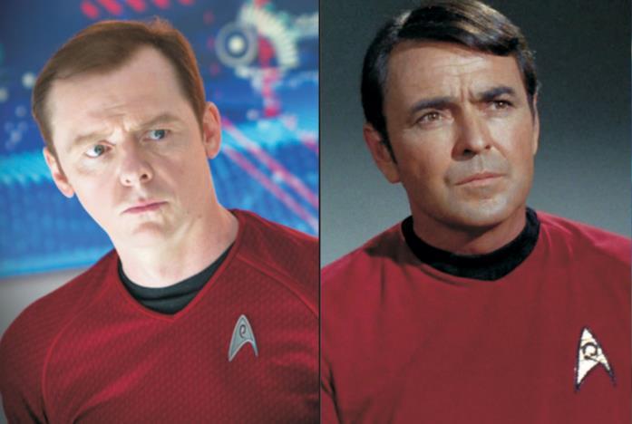 Simon Pegg e James Doohan in Star Trek