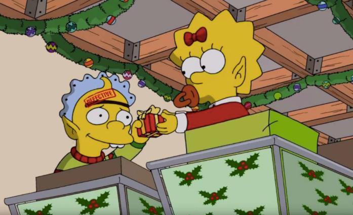 Gag del divano 2017 Natale Simpson - Fabbrica giocattoli