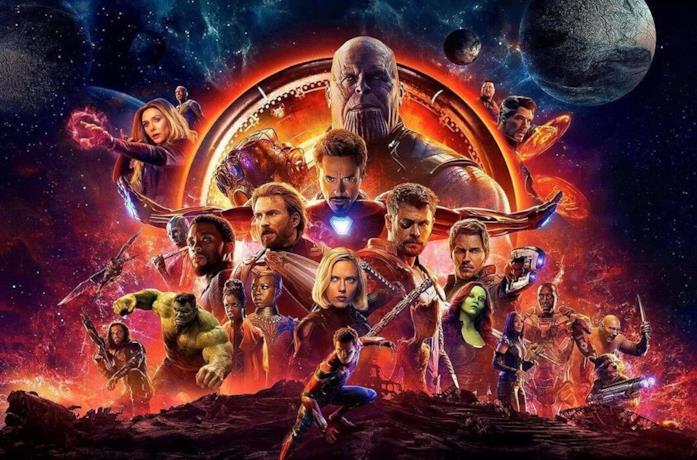 Un'immagine dei protagonisti di Avengers: Infinity War