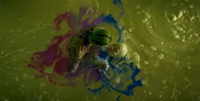 Joker e Harley Quinn in una vasca di prodotti tossici