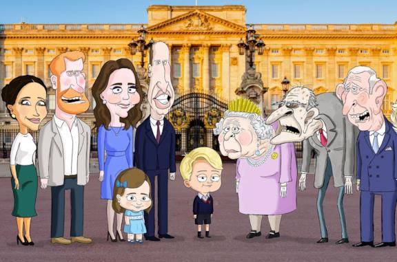 I membri della famiglia reale britannica in The Prince
