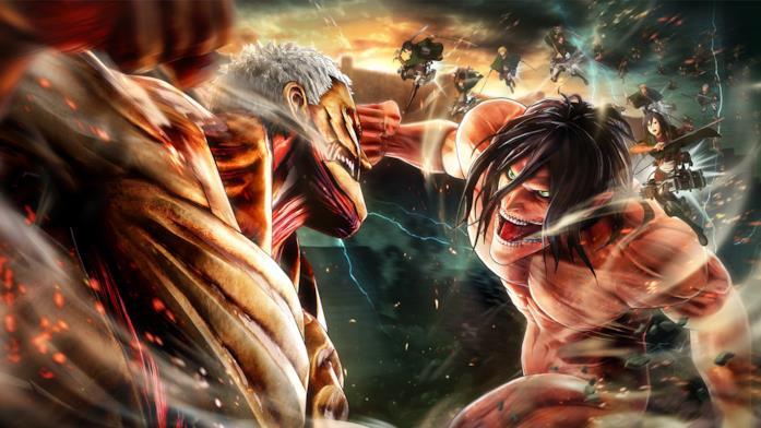 Giganti in lotta in Attack on Titan 2