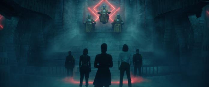 Ravanna porta Sylvie e Loki di fronte ai Custodi del Tempo