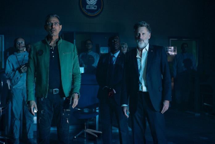 Jeff Goldblum e Bill Pullman in una scena del film