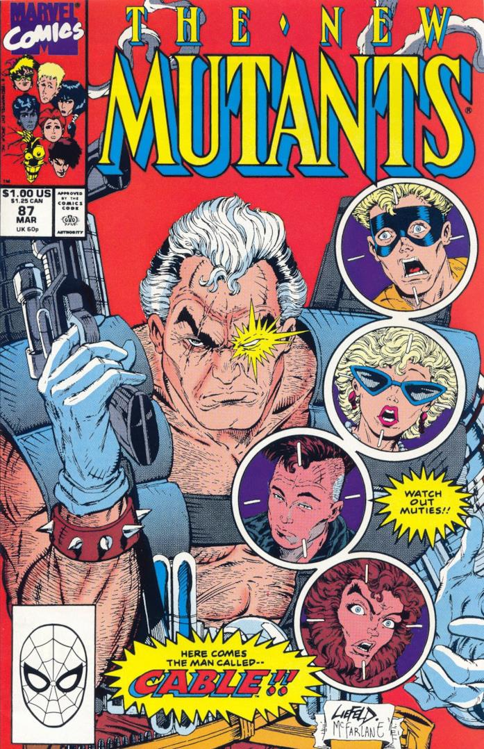 La copertina di New Mutants 87