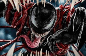 Un'immagine di Venom nel poster de La Furia di Carnage