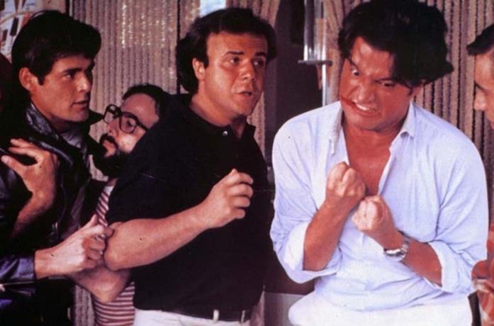 Jerry Calà e Christian De Sica in una scena di Sapore di mare