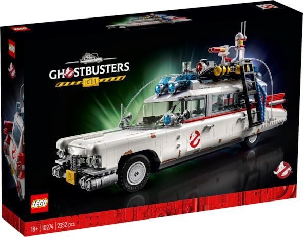 una foto della scatola della Ghostbusters Ecto-1 LEGO