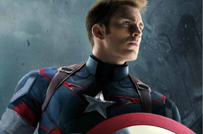 Un'immagine di Captain America interpretato da Chris Evans