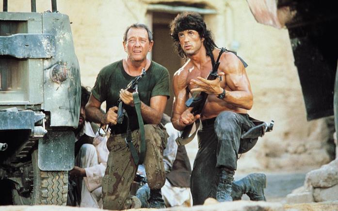 Stallone in una scena di Rambo III