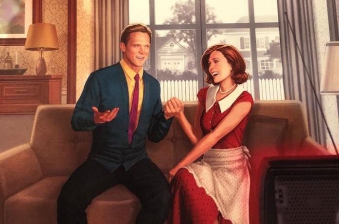 Scarlet e Visione in un'immagine promozionale di WandaVision