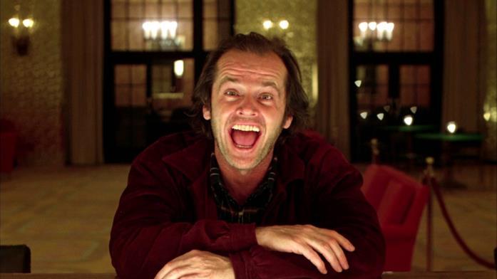 Jack Nicholson nei panni di Jack Torrance in una scena di Shining