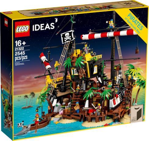 La confezione del set LEGO I pirati di Barracuda Bay