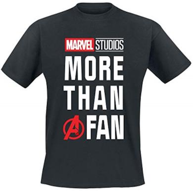Maglietta da Uomo Marvel More Than a Fan MCU Cotton Black - L