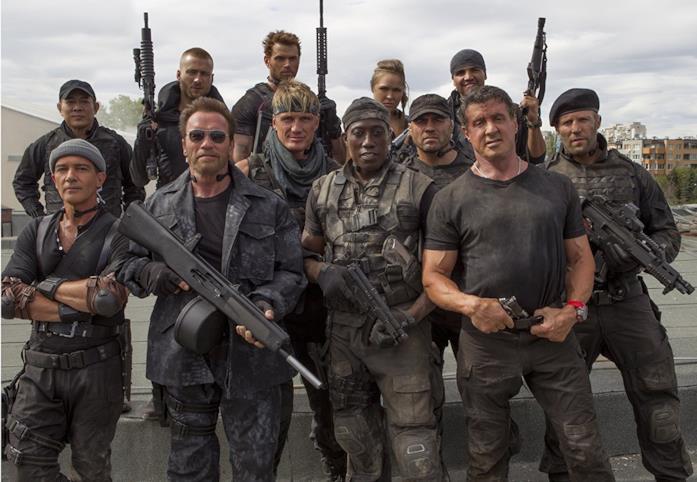 Il cast de I Mercenari 3