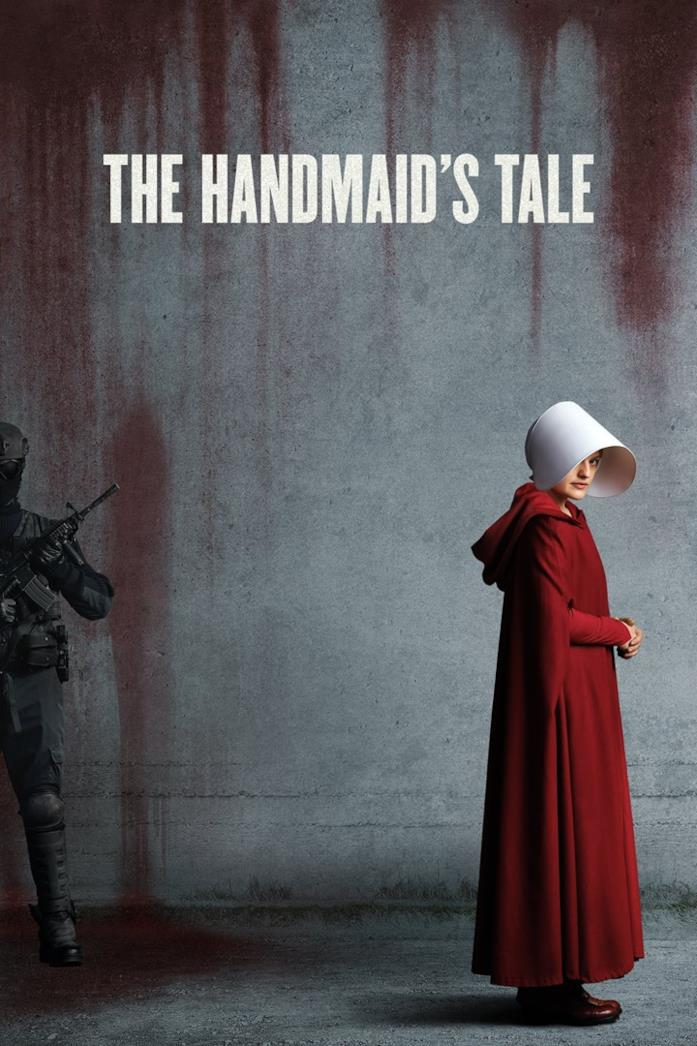 Elisabeth Moss nella locandina di The Handmaid's Tale