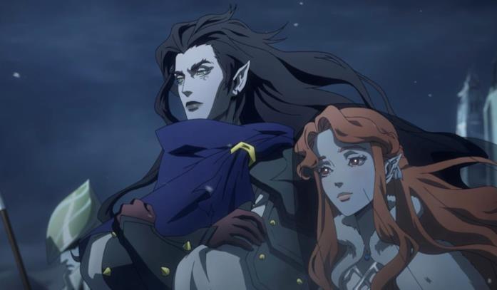 Una scena tratta dalla serie di Castlevania