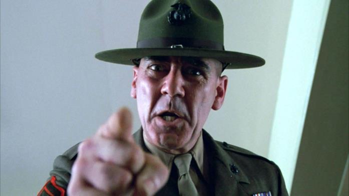 Il Sergente Hartman di Full Metal Jacket