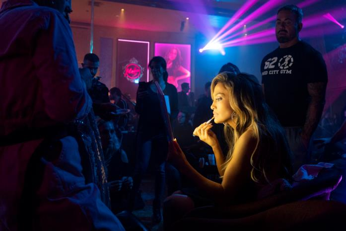 Jennifer Lopez sul set