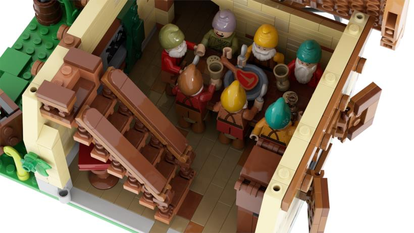La sala da pranzo dei sette nani LEGO