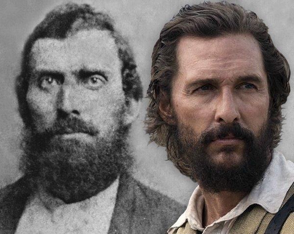 I primi piani di Newton Knight e Matthew McConaughey