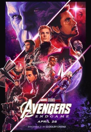 Un poster disegnato per Endgame